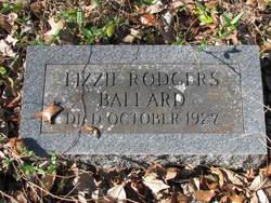 Elizabeth Lizzie <i>Rodgers</i> Ballard