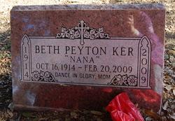 Beth 'Nana' <i>Peyton</i> Ker
