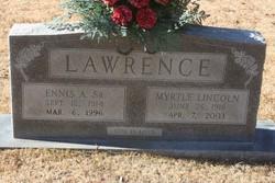 Myrtle Leona <i>Lincoln</i> Lawrence
