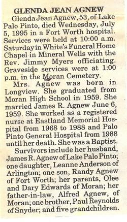 Glenda Jean <i>Reynolds</i> Agnew