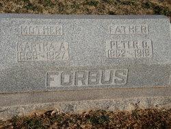 Martha Ann Mattie <i>Walker</i> Forbus