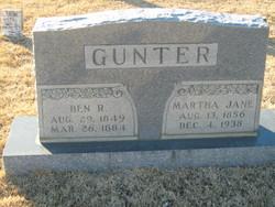 Martha Jane <i>Goolsby</i> Gunter