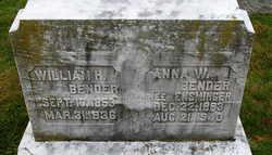 Anna W <i>Ensminger</i> Bender