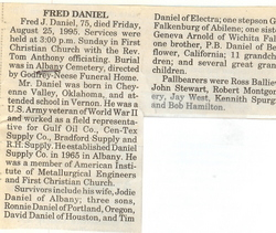 Fred J. Daniel