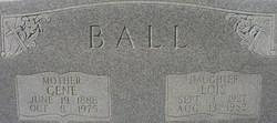 Fannie Eugenia Gene <i>Chatham</i> Ball
