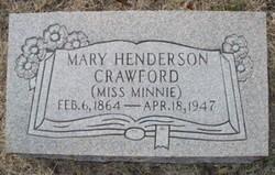 Mary Henderson Miss Minnie Crawford
