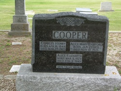 Alice Mary <i>Bamford</i> Cooper