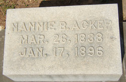 Nannie B <i>Brown</i> Acker