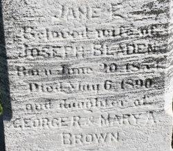 Jane Elizabeth <i>Brown</i> Bladen