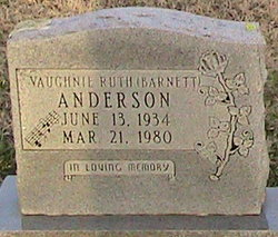Vaughnie Ruth <i>Barnett</i> Anderson