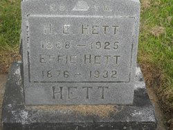 Effie Jane <i>Cronk</i> Hett