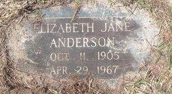 Elizabeth Jane Anderson