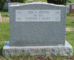 Florence Ernestine <i>Holmes</i> DeFontes