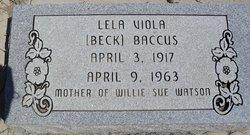 Lela V Baccus