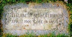 Elizabeth Marie <i>Guentner</i> Ackerman
