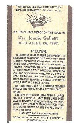 Virginia W. Jennie <i>O'Connor-Wedge</i> Gallant