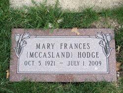 Mary Frances <i>McCasland</i> Hodge