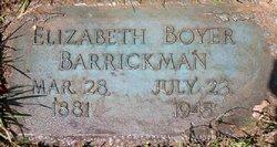 Elizabeth Lucinda <i>Boyer</i> Barrickman