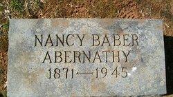 Nancy <i>Baber</i> Abernathy