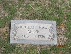 Beulah Mae <i>Newton</i> Allee