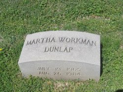 Martha <i>Workman</i> Dunlap