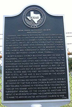 Bear Creek Methodist Cemetery