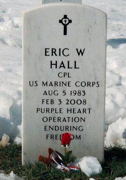 Corp Eric William Hall