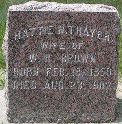 Hattie N <i>Thayer</i> Brown