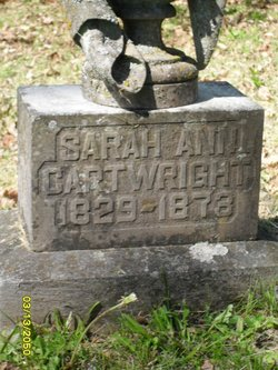 Sarah Ann <i>Few</i> Cartwright