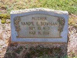 Vandie Elizabeth <i>Ingold</i> Bowman