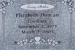 Elizabeth <i>Duncan</i> Gardner