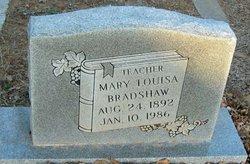 Mary Louisa <i>Wolf</i> Bradshaw