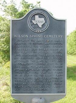 Wilson Spring Cemetery