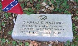 Pvt Thomas David Hastings