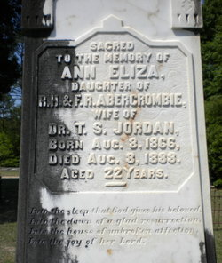 Annie Eliza Ann <i>Abercrombie</i> Jordan