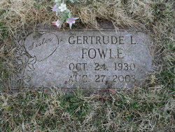 Gertrude L. Fowle
