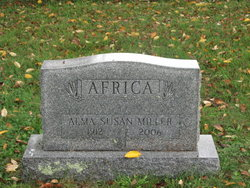 Alma Susan <i>Miller</i> Africa
