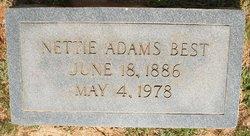 Nettie <i>Adams</i> Best
