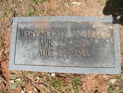 Mary Sue <i>McCall</i> Anderson