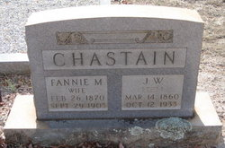 Fannie M. <i>Edwards</i> Chastain