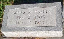 Agnes M Hardin