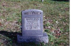 Mary Ann <i>Riffle</i> Barrett
