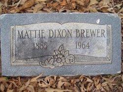 Mattie <i>Dixon</i> Brewer