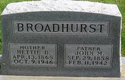 John M Broadhurst