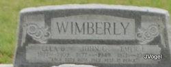 Mary Emmaline Emer <i>Bailey</i> Wimberly