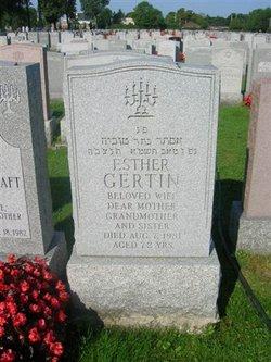 Esther <i>Sheffer</i> Gertin