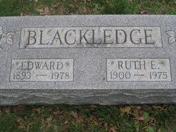 Ruth E <i>Buchanan</i> Blackledge