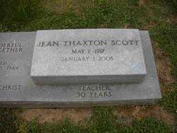 Jean <i>Thaxton</i> Scott