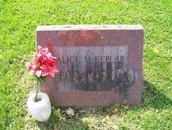 Alice M <i>Keplar</i> Foraker
