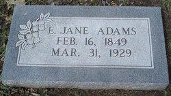 Eliza Jane Janey <i>Hawkins</i> Adams